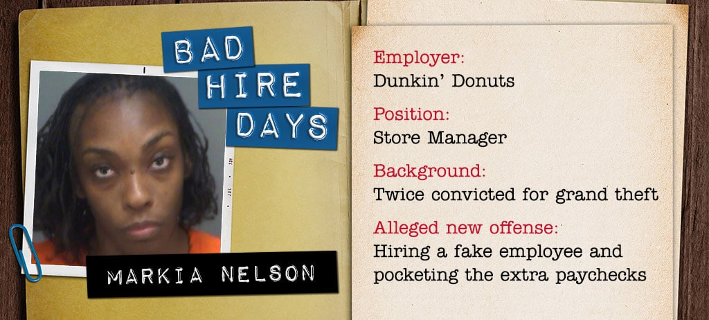 Dunkin' Donuts Manager Hired a Fake Employee and Pocketed Extra Dough